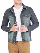 grey denim jacket -  online shopping for Denim Jacket