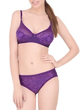 purple lycra bra and panty set -  online shopping for bras and panty set