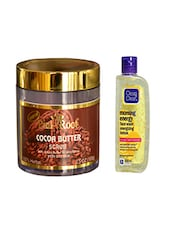 Pink Root Cocoa Butter Scrub (100gm) With Clean & Clear Morning Energy Face Wash Energizing Lemon (100ml) Pack Of 2 - By