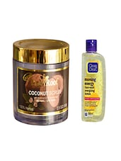 Pink Root Coconut Scrub (100gm) With Clean & Clear Morning Energy Face Wash Energizing Lemon (100ml) Pack Of 2 - By