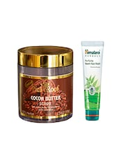 Pink Root Cocoa Butter Scrub (100gm) With Himalaya Purifying Neem Face Wash (100ml) Pack Of 2 - By
