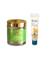 Pink Root Tea Tree Skin Clearing Clay Mask (100gm) With Himalaya Clarifying Fairness Face Wash (100ml) Pack Of 2 - By