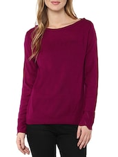 purple woollen pullover -  online shopping for Pullovers