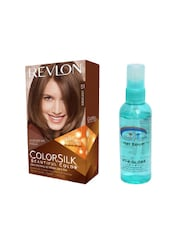 Pink Root Hair Serum (100ml) With Revlon Colorsilk Hair Color With 3D Color Technology Light Brown 51 Pack Of 2 - By