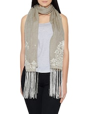 grey linen stole -  online shopping for stoles