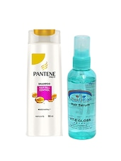 Pantene Pro-V Hair Fall Control Shampoo With Pink Root Hair Serum Pack Of 2 - By