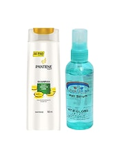 Pantene Pro-V Silky Smooth Care Shampoo With Pink Root Hair Serum Pack Of 2 - By