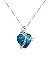 Blue Silver Plated Pendant - By