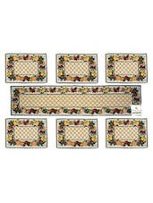 Tapestry Table Mats (Set Of 7) With Table Runner On Jacquard Fabric - By