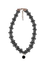 Black Metal Choker Necklace - By