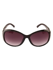 OVAL BLACK SUNGLASSES FOR WOMEN - By