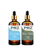 PRZ Combo Set Of Jojoba Carrier Cold Pressed Oil & Tea Tree Oil (Each 15ml) - By