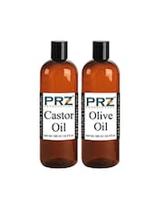 PRZ Combo Of Extra Virgin Olive Oil & Castor Oil (Each 500 ML) - By