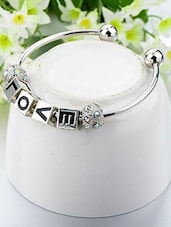 Silver Metal Cuffs Bracelet - By