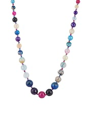 Multi Colored Metal Short Necklace - By