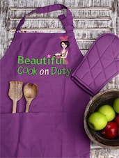 Beautiful Cook On Duty Kitchen Set -  online shopping for Aprons