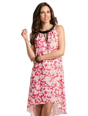 Coral Lilly A-line Dress