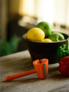 Three-in-One Garnish Maker in Orange - Master Kitchen