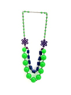 Green and Purple Bubble Necklace - Eesha Zaveri; Jewellery By Design