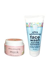 Ultra Whitening Mask  And  Ultra Whitening Face Wash - Pack Of 2 - By