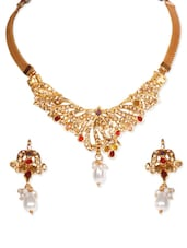 Pearly White Necklace Set -  online shopping for Imitation Jewellery