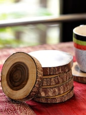 Tree Cut Wooden Coasters Set Of 6 -  online shopping for Coasters & Trivets