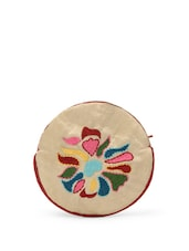 Embroidered Round Coin Pouch -  online shopping for Purses