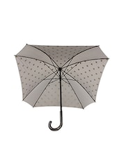 Grey And White Polka Dot Square Umbrella - By