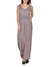 Grey Printed Breezy Jumpsuit -  online shopping for Jumpsuits