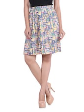 Multicolored Printed Cotton Pleated Skirt - By