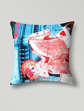 Multicolored Satin The King's Horse Riding 3-D Cushion Covers - By