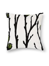 Black And White Cotton Printed Cushion Cover (Set Of 5) - By