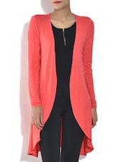 Coral Viscose Full Sleeves Shrug - By
