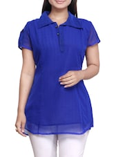 Royal Blue Georgette Kurti - By