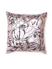Beige Printed Cotton Cushion Cover ( Set Of 2 ) - By