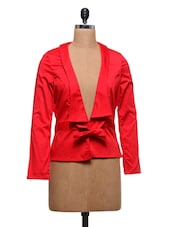 Solid Red Formal Shrug - By