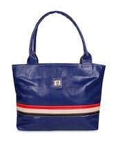 Blue Faux Leather Shoulder Bag - By