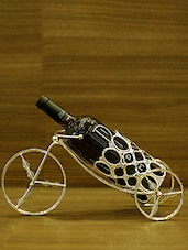 Silver Metallic Wine Holder - By