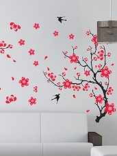 Pink Flower Wall Sticker -  online shopping for Wall Decals & Stickers