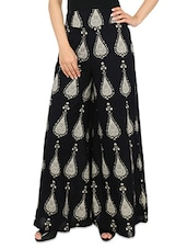 Printed cotton palazzo pants -  online shopping for Palazzos