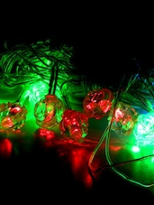 CRYSTAL MULTI COLOR LED FLOWER STRING LIGHT - By