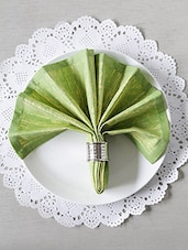 Lime Green Cotton Square Table Napkins (Set Of 6) - By