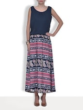 Multicolored Printed Crepe Maxi Dress - By