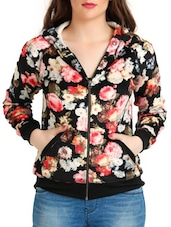 Multicoloured Floral Print Sweatshirt With Hood - By