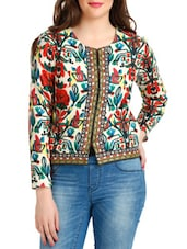 Multicoloured Printed Full-sleeved Jacket - By