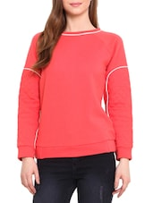 Coral Cotton Poly Fleece Sweatshirt - By