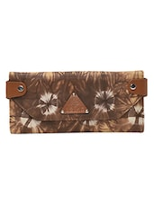 Brown Leather Tie And Dye Wallet - By