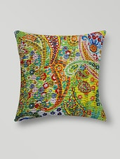 Yellow Cotton Printed  Cushion Cover Set - By