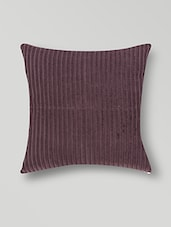 Set Of 2 Coffee Brown Designed Cotton Cushion Covers - By