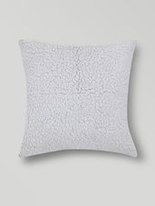 Set Of 2 Off White Cotton Cushion Covers - By